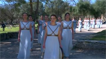 奧運聖火點燃 希臘禁觀禮場面冷清