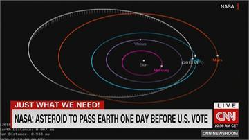 美國總統大選前一天...直徑2公尺小行星朝地球來