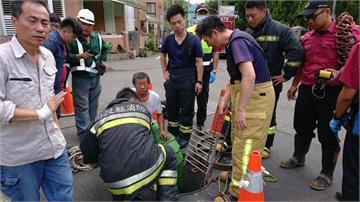 10米下水道作業  工人疑似熱暈洞內