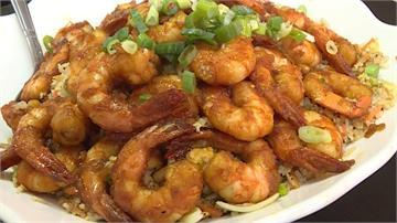 最狂草屯巷弄小吃!蝦仁炒飯擺滿30隻大蝦
