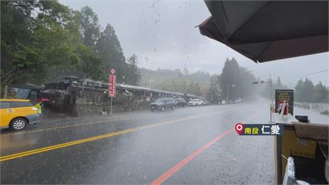 颱風接近 熱對流 南投山區突下豪大雨