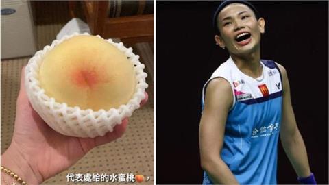 東奧/戴資穎收「好大顆水蜜桃」感謝他!謝長廷:運動員比我需要