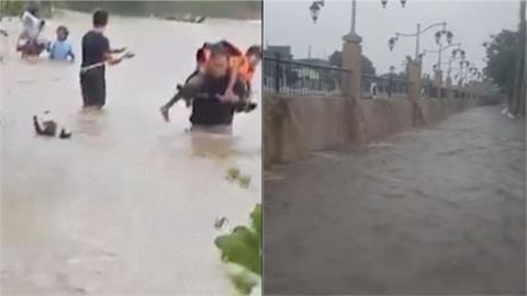 家園慘淹!13號颱「康森」強襲菲律賓 釀1死17失蹤萬人受災