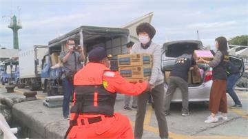 蘭嶼船班因東北風停航多日 臨斷糧危機台東縣府攜手海巡 巡防艇運民生物資救急