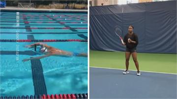 好厲害!美國女飛魚樂戴基頭頂牛奶游泳 奧運金牌一滴未灑硬實力