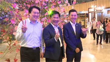 基隆、新竹市長訪花博 3位「林市長」大合體
