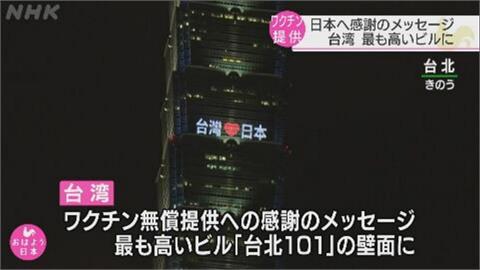 NHK報導 台灣感謝日贈124萬劑AZ疫苗