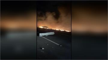 國道苗栗段15分鐘內 2起大車事故釀3傷