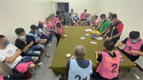 高雄跑到台南來賭! 41人擠10坪鐵皮屋賭博被逮