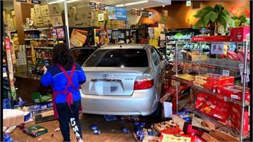 「請支援收銀」衝來一輛車!七旬婦撞進超市