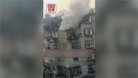 遼寧4天內2度爆炸 大連大樓屋頂掀開火舌狂竄