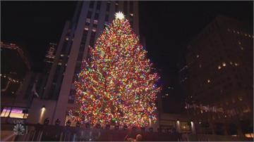 紐約洛克斐勒耶誕樹 今年架起路障 民眾只能遠觀
