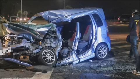 大貨車從側邊猛撞轎車24歲女醫檢師命喪嘉義高鐵大道