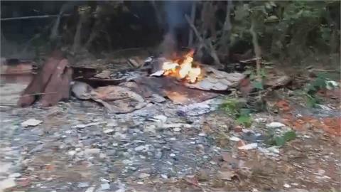 抓到了! 高雄鳥松屢飄異味「科技蒐證」 查獲非法燒廢棄物