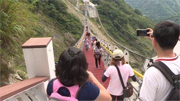 全台最高且跨距最長 雙龍瀑布七彩吊橋啟用