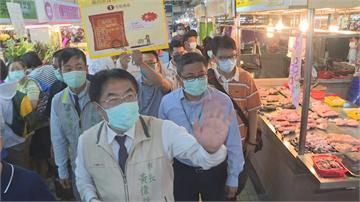 「國產豬標章」把關食安 黃偉哲市場宣導