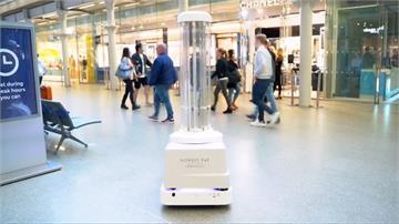 車站防疫新幫手 自動機器人殺菌、消毒助陣