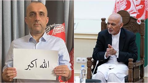 阿富汗遭塔利班攻陷總統落跑 大使館撤換總統照「變奮戰的副總統」