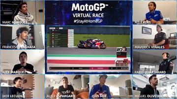 真的MotoGP因防疫停賽 賽車手改拚虛擬電競賽