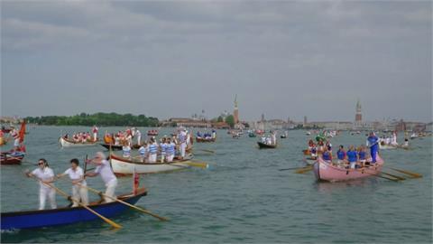 威尼斯划船賽慶建城1600年 500艘船點綴古老潟湖