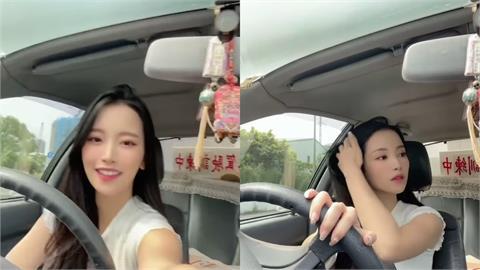 蔡瑞雪駕訓班開車撿手機!被網轟「未來三寶」 她發文開嗆:教練同意的!