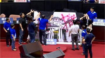陳菊人事案藍綠衝突多人掛彩!林俊憲轟:國民黨不理性抗爭