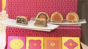 高檔月餅 吃得到鮑魚、干貝、烤鴨!不只甜的  飯店端出「海味」月餅