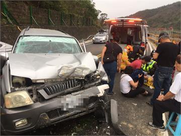 快新聞/台9線休旅車與工程車相撞 7人受傷送醫