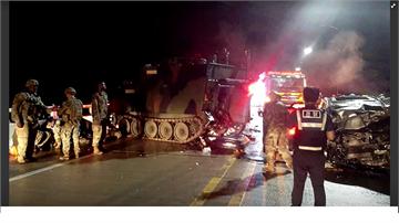 南韓抱川市休旅車追撞美軍裝甲車 四死一傷