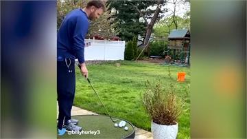 高球/PGA巡迴賽6/12復賽 球員居家練球秀驚人技巧