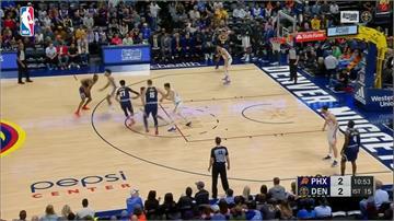 NBA/先發3人得分破20!金塊5連勝西區第二