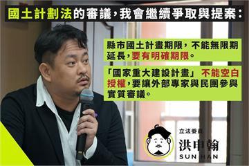 快新聞/國土法修正草案在爭議聲中進入委員會  綠委:延長不該是毫無期限!