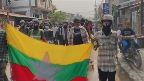 緬甸示威8號再傳2死! 示威者發起全國大罷工