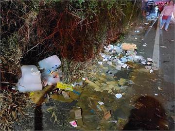 大甲媽駐駕西螺沿路成垃圾海 網友1張照片信徒怒「媽祖真的會高興嗎?」