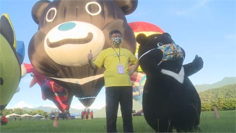 台東熱氣球嘉年華登場 柯文哲搭熊讚熱氣球