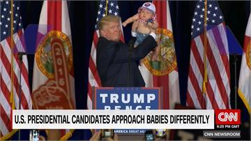 美國參選人塑造親形象 「寶寶公關」牌無往不利