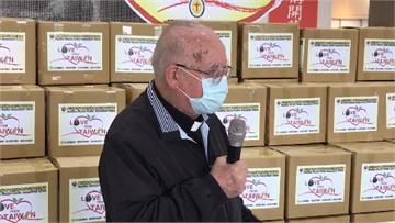 快新聞/呂若瑟神父號召全台響應  首波抗疫物資送愛義大利 駐台代表感謝台灣善行