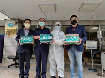 警察支援防疫勤務辛苦   前獅子會總監號召捐防護衣、護目鏡