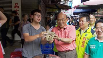 蘇貞昌拚新北選戰 一個月內掃30個市場