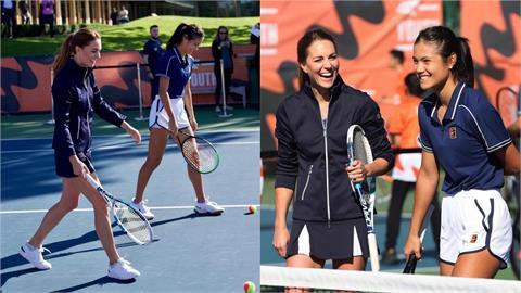 凱特王妃穿平價網球裝合體「英國楊丞琳」 露美腿組雙打揮拍尬球
