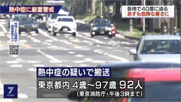 日本「猛暑日」靜岡高溫直逼40度  東京如烤箱!一天92人熱衰竭送醫