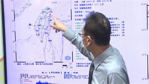 今年最強震!宜蘭6.5地震 象山鏡頭劇烈搖晃畫面曝光