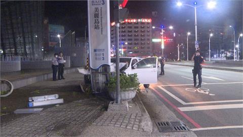 酒駕撞美麗島捷運站出口 駕駛公共危險罪送辦