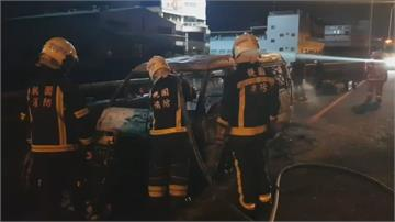 拍戲器材車國道起火 緊急搶救器材完好、人無傷