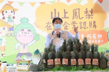 快新聞/批中國禁台灣鳳梨是「政治決定」 黃偉哲:將農產品賣向全世界