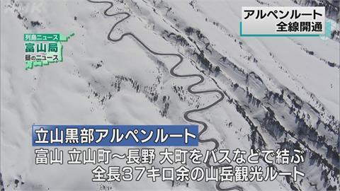 日本北陸「立山黑部」結束封山   今全線開通!