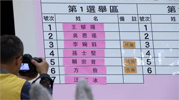 台北市立委號次抽籤 候選人奇裝異服搏版面