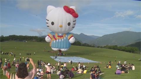 全球第一顆凱蒂貓熱氣球開箱!Kitty穿布農族服飾「卡哇伊」
