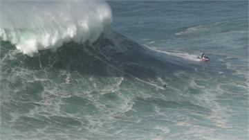 葡萄牙納札雷滔天巨浪衝浪高手賽前先試試