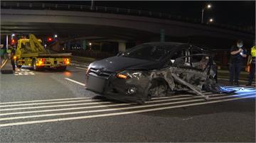 自撞疑未繫安全帶!駕駛噴飛對向車道身亡
